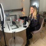 Julie Stewart-Binks recording her FUBOTV show